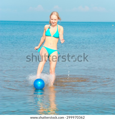 In Joy Jumping Pleasure  - stock photo