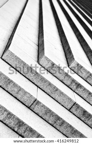 in london  monument  old steps and marble ancien line  - stock photo