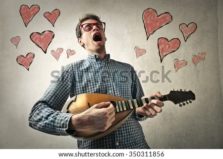 In love player - stock photo