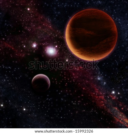 in outer space - stock photo