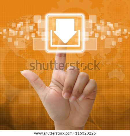 In press download icon for business concept