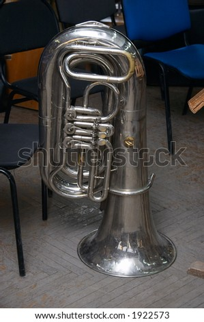 In rehearsal brass-band of Philharmonical Society - stock photo