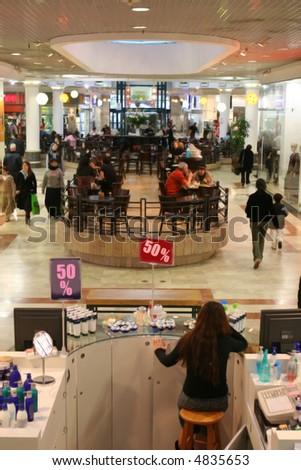In shopping center - stock photo