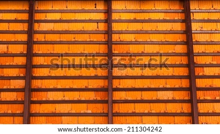 in side of roof - stock photo