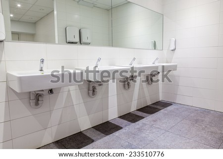 in the bathroom there is an flush tank - stock photo