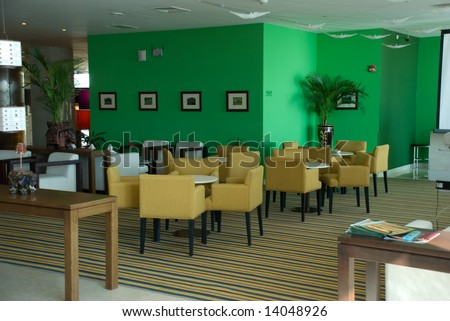 in the cafe - stock photo