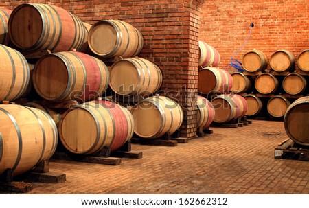 In the Cellar - stock photo