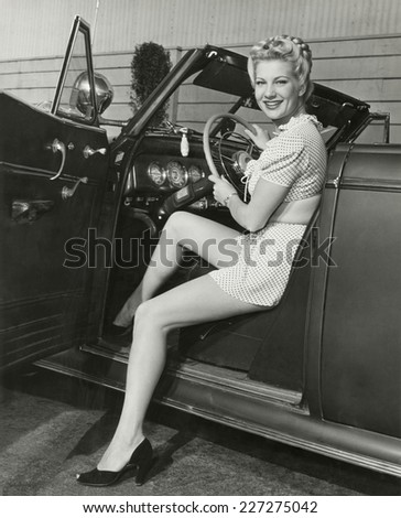 In the driver's seat - stock photo