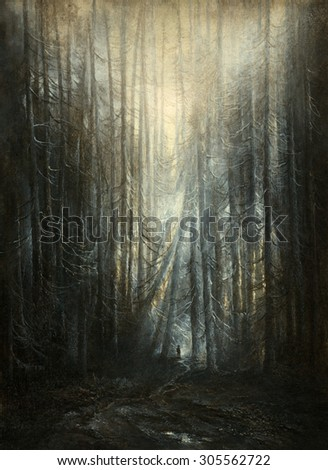 In the forest - stock photo