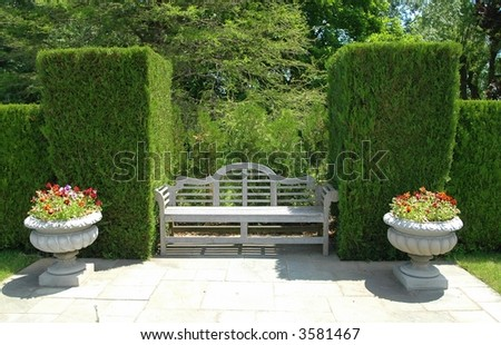 In The Garden-Botanical Gardens-Ontario,Canada - stock photo