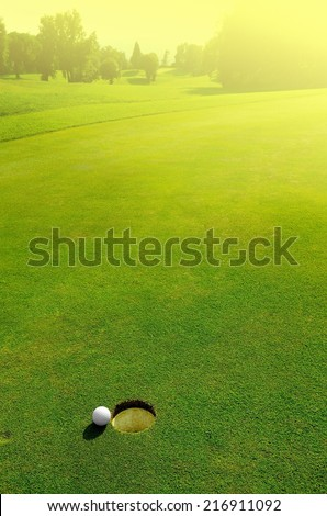 In the hole - stock photo