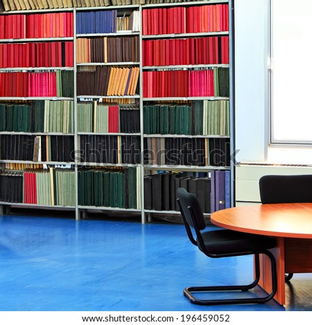 In the library - stock photo