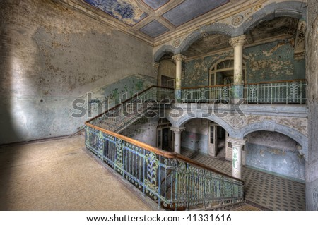 In the old Hospital for Lung Diseases in Beelitz - stock photo