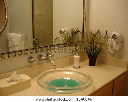 In The Restroom - stock photo