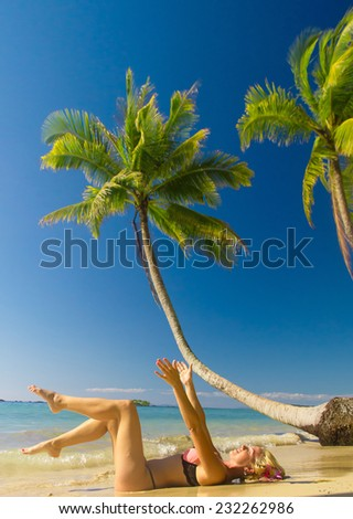 In the Summer Sunshine Female Beauty  - stock photo