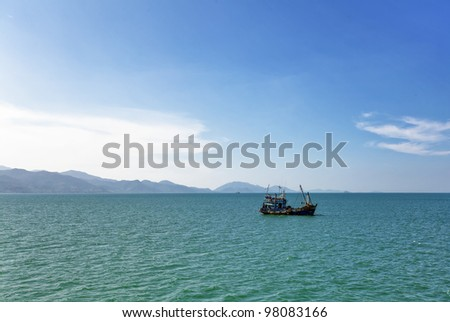 In the tropical sea, Thailand - stock photo