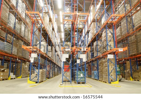 in the warehouse - stock photo