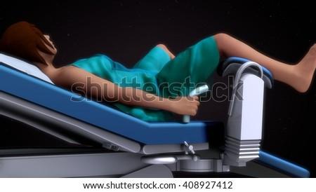 In vitro fertilization 3d Illustration - stock photo