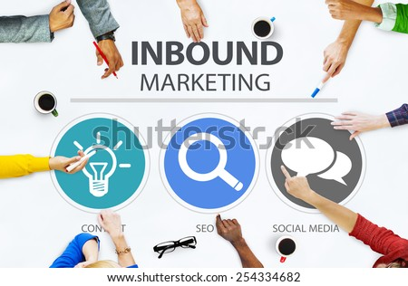 Inbound Marketing Commerce Content Social Media Concept - stock photo