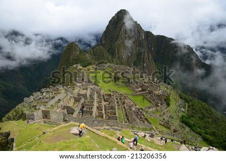 Inca ancient ruin at Peru - stock photo