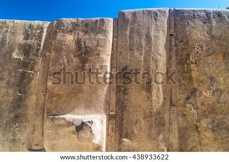 Inca ruins of Ollantaytambo, Sacred Valley of Incas, Peru - stock photo