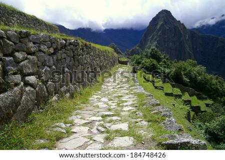 Inca Trail to Machu Picchu, Peru - stock photo
