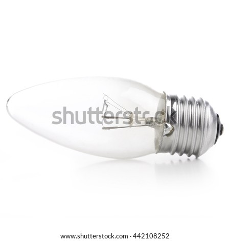 incandescent lamp E27 with clean glass (candle)