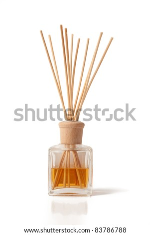 Incense Sticks with Oil Jar - stock photo