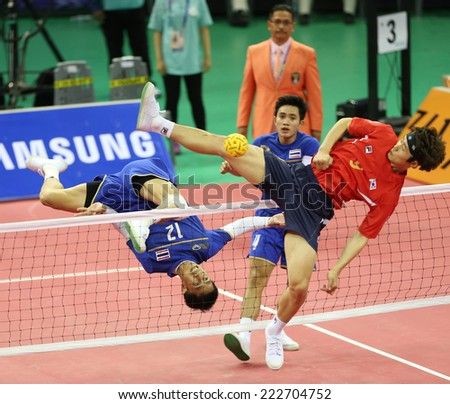 INCHEON - SEP 23:Supachai MANEENAT of Thailand participates in 2014 Incheon Asian Games at Bucheon Gymnasium on September 23, 2014 in Incheon, South Korea.