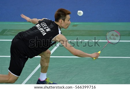 INCHEON September 25, 2014 - Malaysia Atlet, Lee Chong Wei , competing in the Gyeyang Stadium, the 2014 Asian Games, Incheon, Korea.