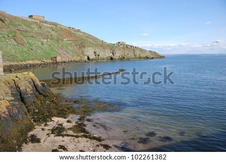 Inchkeith Shore - stock photo