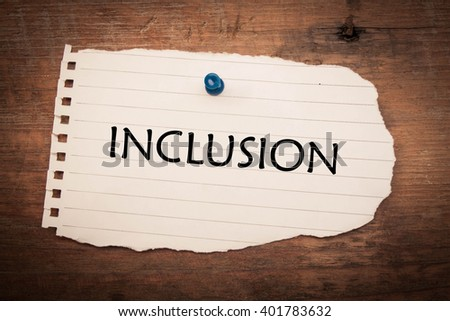 Inclusion word - stock photo