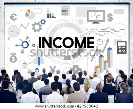 income Assets Banking Capital Finance Money Concept - stock photo