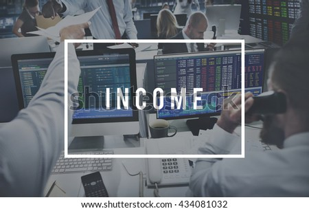Income Business Accounting Banking Money Concept - stock photo