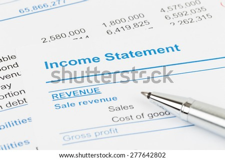 Income Statement Stock Images, Royalty-Free Images & Vectors