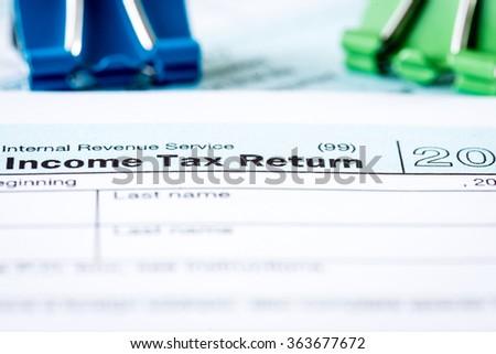 Income Tax Return - stock photo