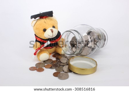 Incomes with Educations - stock photo