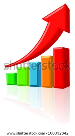 Increase Business Chart - stock photo