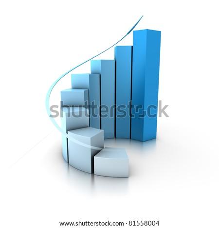 increase histogram - stock photo