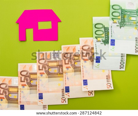 Increasing cost of property - stock photo