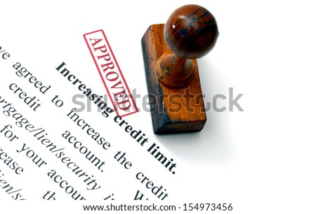 Increasing credit limit - stock photo