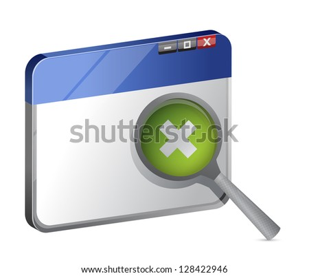 increasing web browser view illustration design over a white background - stock photo