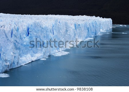 incredible huge glacier ice in patagonia argentina and chile - stock photo