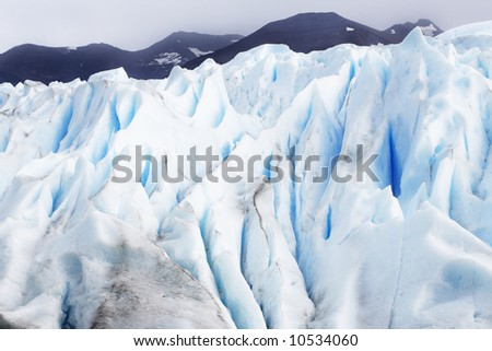incredible huge glacier ice in patagonia national park argentina and chile - stock photo