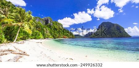 incredible islands of Philippines. Palawan (El NIdo) - stock photo