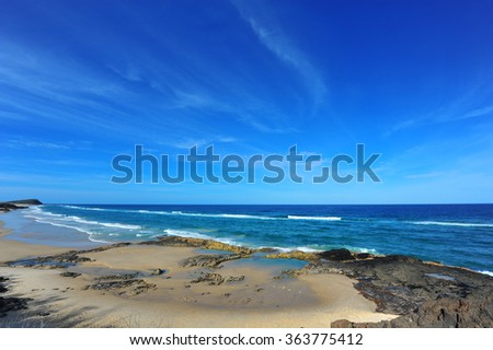 Incredible view of the Champagne Pools on Fraser Island, Australia! - stock photo