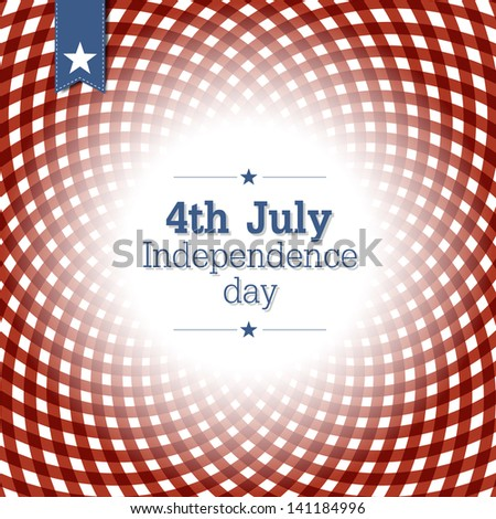 Independence day background. Raster version, vector file available in my portfolio. - stock photo