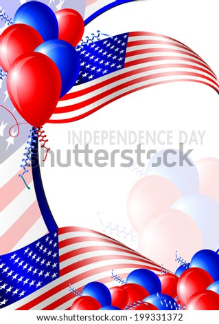 Independence day card - layout template - stock photo