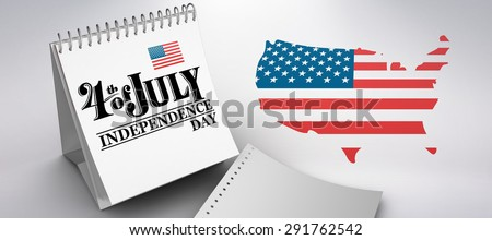 Independence day graphic against grey background