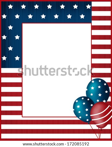 Independence day national USA frame background - stock photo